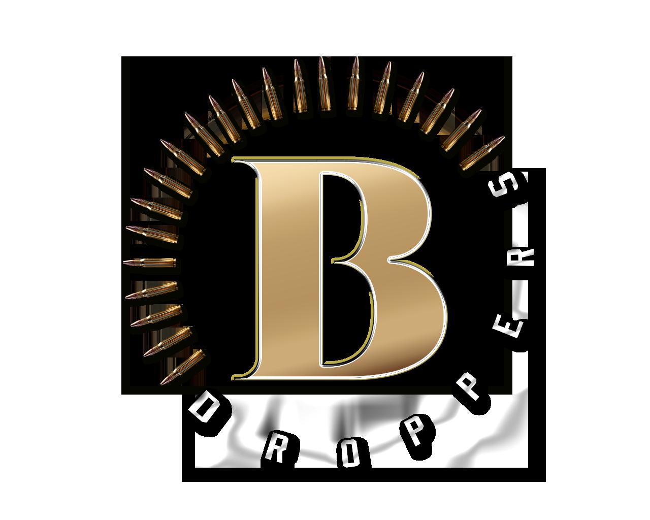 TRANSPARENT Brass Droppers GunSmoke & Gold-2